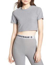 Converse - Metallic X Miley Cyrus Glitter Crop Tee - Lyst