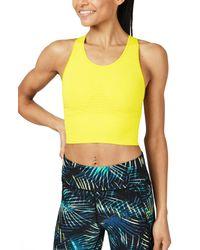 Sweaty Betty Yellow Stamina Longline Sports Bra