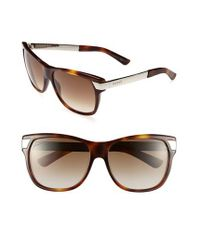 Gucci Brown 57mm Sunglasses - Havana/ Petrol