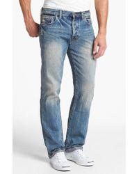 PRPS | Blue 'barracuda' Straight Leg Selvedge Jeans for Men | Lyst