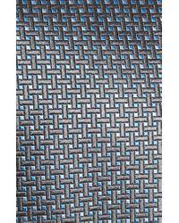 David Donahue Multicolor Geometric Silk X-long Tie for men
