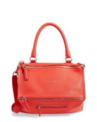 Givenchy Red 'medium Pandora' Sugar Leather Satchel