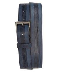 Ted Baker - Blue Brambel Leather Belt for Men - Lyst