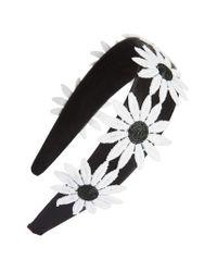 Tasha - Black Big Daisy Headband - Lyst