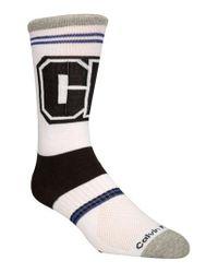 Calvin Klein White Bold Socks for men