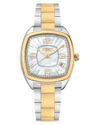 Fendi Metallic Momento Square Bracelet Watch