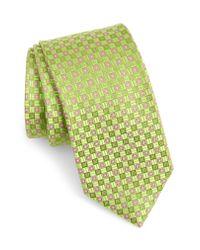 Ted Baker Green Parquet Grid Silk Tie for men