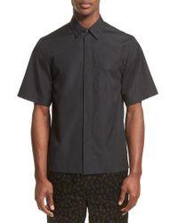 3.1 Phillip Lim Black Trim Fit Sport Shirt for men