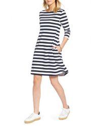 0478087d0e0 Nordstrom 1901 Tie Back Stripe Knit Dress in Blue - Lyst