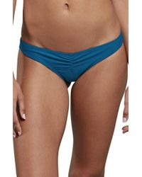 Volcom - Blue Simply Solid V Cheeky Bikini Bottom - Lyst