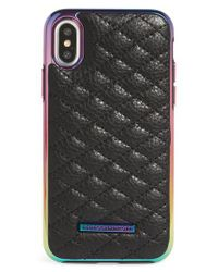 Rebecca Minkoff - Black Luxe Leather Iphone X Case - Lyst