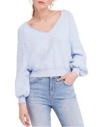 Free People - Blue Found My Friend Sweater - Lyst