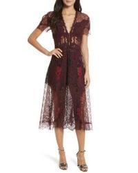 Jonathan Simkhai Red Grommet Detail Lace Dress