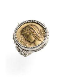 Konstantino Metallic 'demeter' Coin Ring