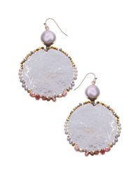 Nakamol White Cultured Pearl Drop Earrings
