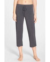 DKNY | Gray 'urban Essentials' Capri Pants | Lyst