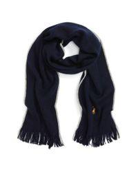 Polo Ralph Lauren | Blue Merino Wool Scarf for Men | Lyst