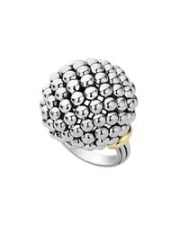 Lagos Metallic 'caviar Forever' Large Dome Ring