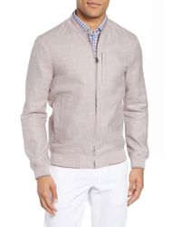 Ted Baker Pink Raney Trim Fit Linen & Cotton Jacket for men