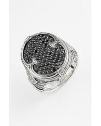 Konstantino - Metallic 'plato' Pave Etched Ring for Men - Lyst