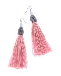 Nakamol - Pink Tassel Earrings - Lyst