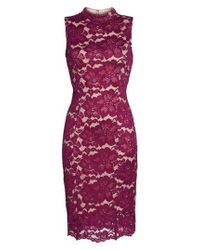 Adrianna Papell - Multicolor Twin Flower Lace Sheath Dress - Lyst