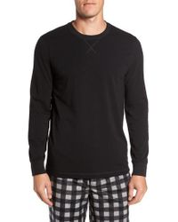 Nordstrom Black Stretch Cotton Long Sleeve T-shirt for men