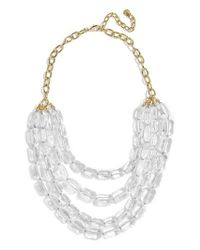 BaubleBar - Multicolor Laree Multistrand Statement Necklace - Lyst