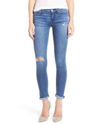 Hudson | Blue Hudson Tally Crop Skinny Jeans | Lyst