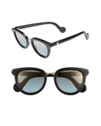 Moncler Black 48mm Cat Eye Sunglasses
