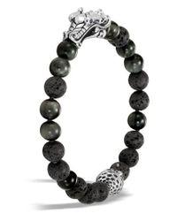 John Hardy - Gray Legends Naga Bead Bracelet for Men - Lyst