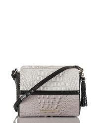 Brahmin Multicolor Carrie Leather Crossbody Bag