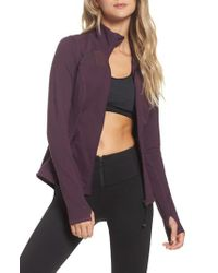Zella Purple Defy Zip Jacket