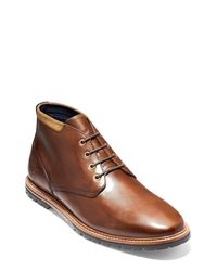 Cole Haan Brown Raymond Grand Water Resistant Chukka Boot for men