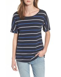 Barbour Blue Marloes Jersey T-shirt