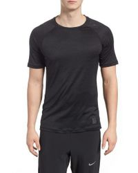Nike Black Pro Hypercool Fitted Crewneck T-shirt for men