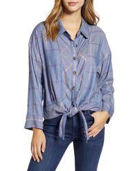 Wit & Wisdom Blue Tie Front Shirt