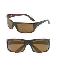 Maui Jim - Metallic 'peahi - Polarizedplus2' 67mm Sunglasses for Men - Lyst