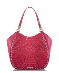 Brahmin - Red Marianna Leather Tote - Lyst