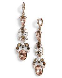 Givenchy - Metallic Drama Linear Crystal Earrings - Lyst