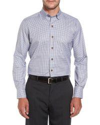 David Donahue | Brown Plaid Regular Fit Sport Shirt for Men | Lyst