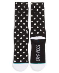 Stance Black Dot Vibes Socks for men