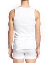 Calvin Klein Classic Fit 3-pack Cotton Tank Top, Black for men