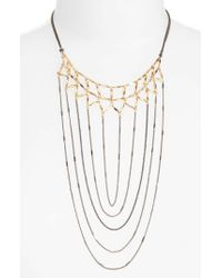 Nakamol - Gray Draped Chain Necklace - Lyst