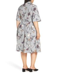 cb14ca0069b1 Lafayette 148 New York Eleni Floral Stripe Shirtdress - Lyst