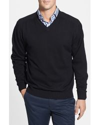 Cutter & Buck   Black 'broadview' V-neck Sweater for Men   Lyst