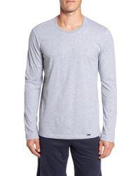 Hanro | Gray Living Long Sleeve T-shirt for Men | Lyst