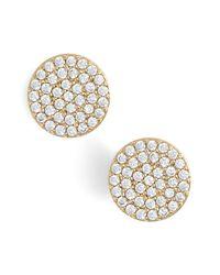 Nadri Metallic 'geo' Stud Earrings