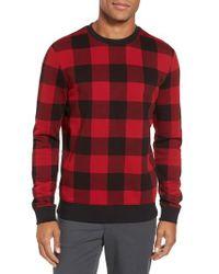 BOSS Red Skubic Check Slim Fit Sweater for men