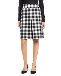 Nordstrom - Black 1901 Check A-line Skirt - Lyst